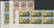 SG 894-6 Centenary of New Zealand Law Society set of 3 plate blocks of 6 (NF1/169)